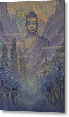 Buddha. Valley Of Silence Metal Print by Vrindavan Das