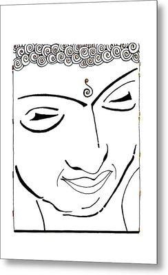 Buddha Xiv Metal Print by Kruti Shah