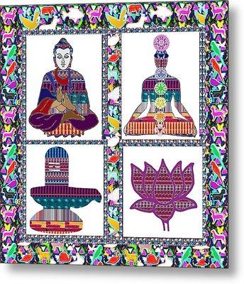 Buddha Yoga Chakra Lotus Shivalinga Meditation Navin Joshi Rights Managed Images Graphic Design Is A Metal Print