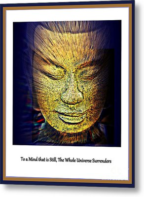 Buddhas Mind Metal Print by Susanne Van Hulst