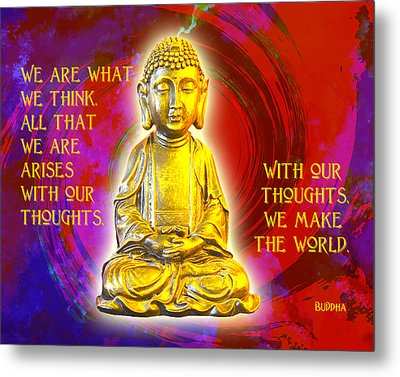 Buddha's Thoughts 2 Metal Print by Ginny Gaura