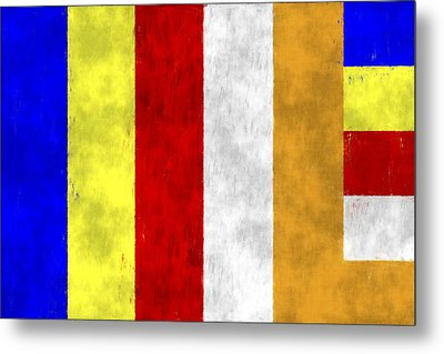 Buddhist Flag Metal Print
