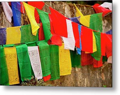Buddhist  Monastery In Sikkim India Metal Print by Jaina Mishra