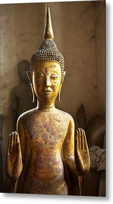 Buddhist Statues G - Photograph By Jo Ann Tomaselli  Metal Print