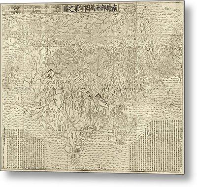 Buddhist World Map Metal Print