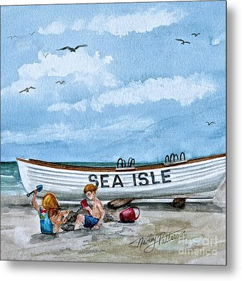 Buddies In Sea Isle City 2 Metal Print