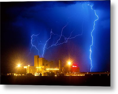 Budweiser Power Metal Print by James BO  Insogna