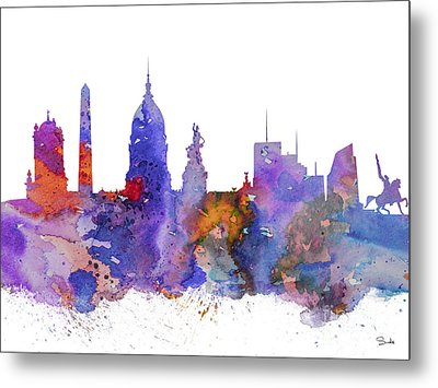 Buenos Aires Metal Print by Watercolor Girl