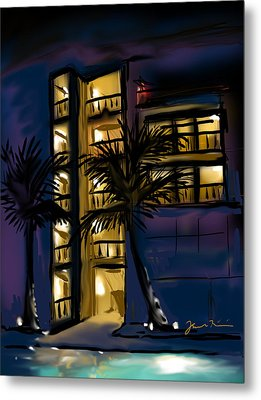 Metal Print featuring the painting Buenos Noches Gloria by Jean Pacheco Ravinski