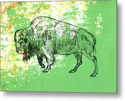 Buffalo 11 Metal Print by Larry Campbell
