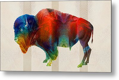 Buffalo Animal Print - Wild Bill - By Sharon Cummings Metal Print by Sharon Cummings
