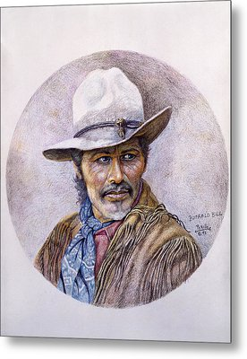 Buffalo Bill Metal Print by Gregory Perillo