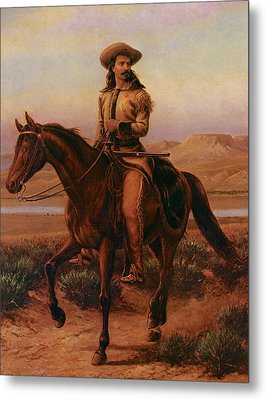 Buffalo Bill On Charlie Metal Print by William Cary
