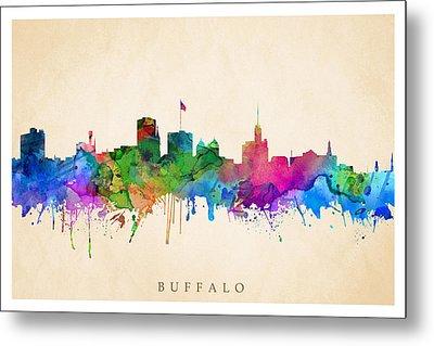 Buffalo Cityscape Metal Print