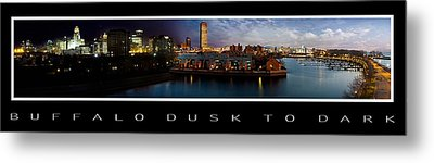 Buffalo Dusk To Dark 2 Metal Print