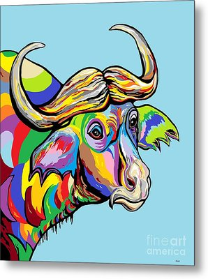Buffalo Metal Print by Eloise Schneider