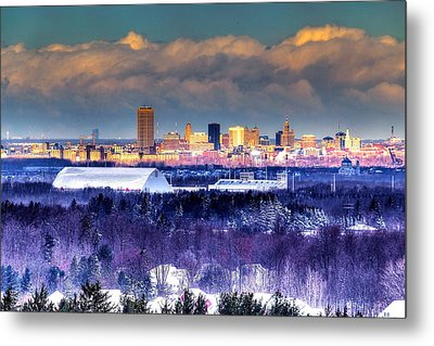 Metal Print featuring the photograph Buffalo From Chestnut Ridge by Don Nieman
