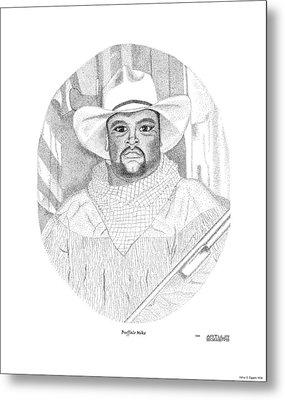 Buffalo Mike Metal Print by Arthur Eggers