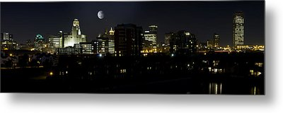Buffalo Night Moves Metal Print by Peter Chilelli
