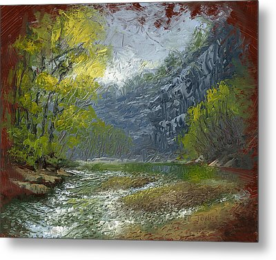 Buffalo River Bluff Metal Print by Timothy Jones