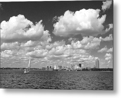 Metal Print featuring the photograph Buffalo Skyline by Cindy Haggerty
