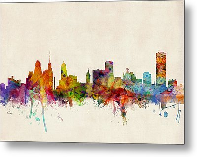 Buffalo Skyline Metal Print by Michael Tompsett