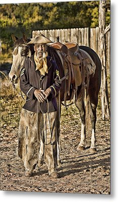 Buffalo Soldier Metal Print
