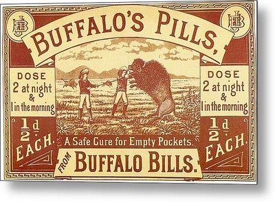 Metal Print featuring the photograph Buffalo's Pills Vintage Ad by Gianfranco Weiss