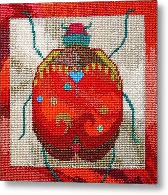 Bug Metal Print by Connie Pickering Stover