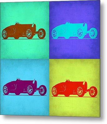 Bugatti Type 35 R Pop Art 1 Metal Print by Naxart Studio