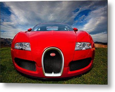Bugatti Veyron Metal Print by Peter Tellone