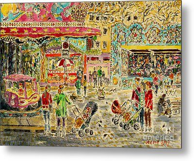 Buggies On Annual Fair Metal Print