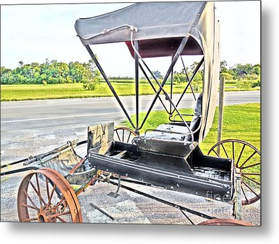 Buggy By The Road Metal Print by Eloise Schneider