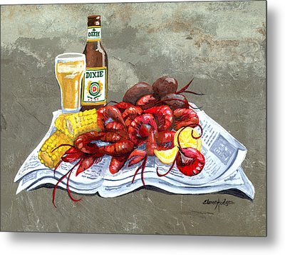 Bugs And Beer Metal Print by Elaine Hodges