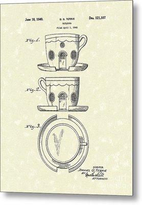 Building 1940 Patent Art Metal Print by Prior Art Design