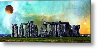 Building A Mystery 2 - Stonehenge Art By Sharon Cummings Metal Print by Sharon Cummings