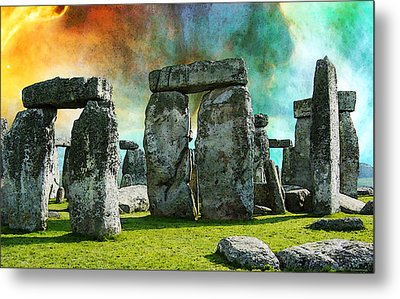 Building A Mystery - Stonehenge Art By Sharon Cummings Metal Print by Sharon Cummings