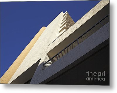 Building Abstract Metal Print by Tony Cordoza