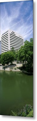 Building At The Waterfront, Qwest Metal Print by Panoramic Images