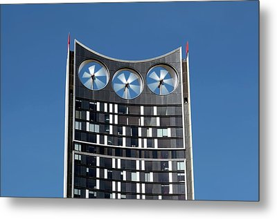 Building-integrated Wind Turbines Metal Print by Martin Bond