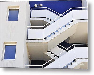 Building Staircase Metal Print by Sami Sarkis