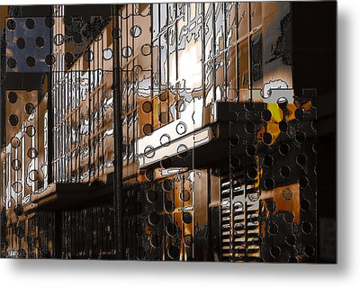 Building With Shimmering Circles Metal Print by Don Gradner