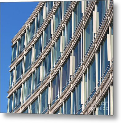 Building With Windows Metal Print