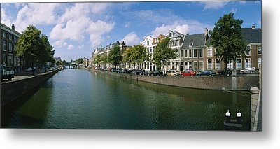 Buildings Along A Canal, Haarlem Metal Print by Panoramic Images
