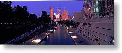 Buildings Along A Canal, Indiana Metal Print