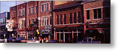Buildings Along A Street, Nashville Metal Print by Panoramic Images