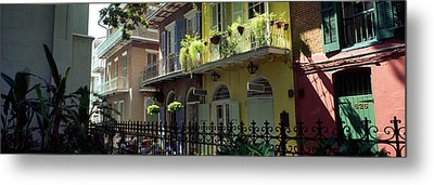 Buildings Along The Alley, Pirates Metal Print by Panoramic Images