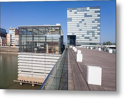 Buildings At A Harbor, Cubana Metal Print