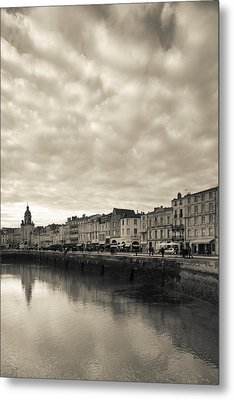 Buildings At The Waterfront, Old Port Metal Print by Panoramic Images