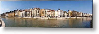 Buildings At The Waterfront, Saone Metal Print by Panoramic Images